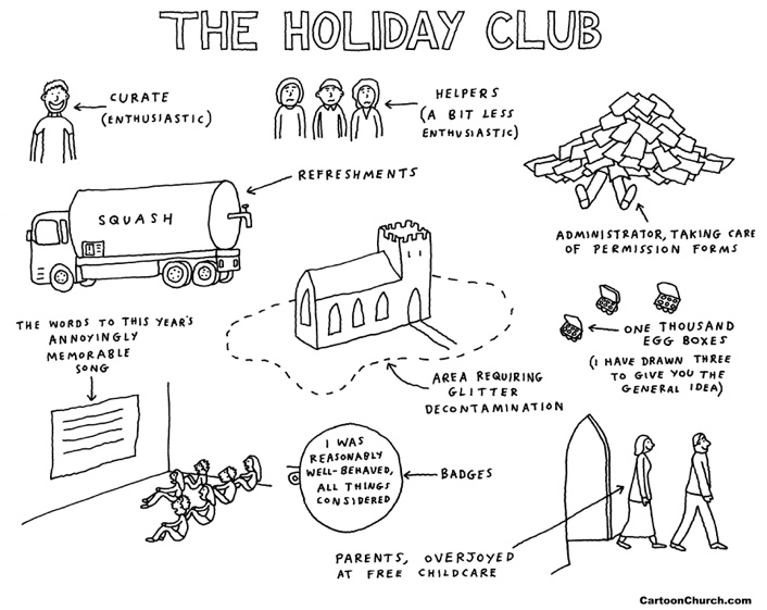 Church holiday club cartoon