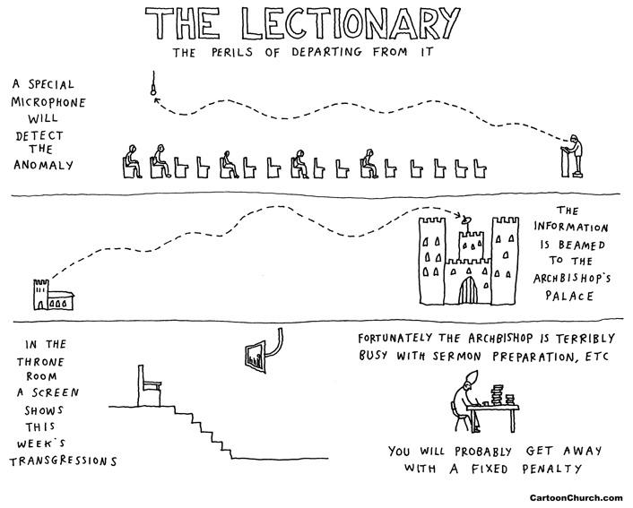Lectionary cartoon